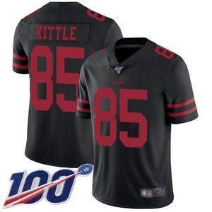 Mens 49ers #85 George Kittle 100th Season Jerseys